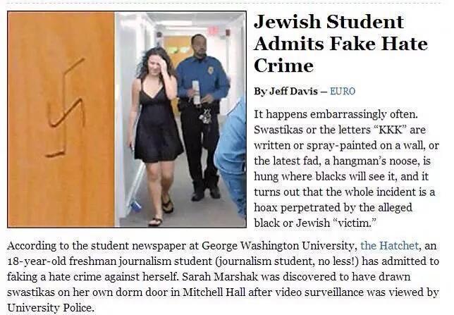 Hoaxes: Anti-racist lies
