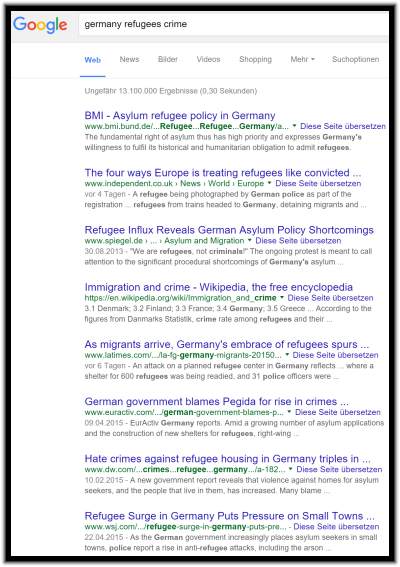 """Germany Refugees Crime"" yields ""crimes AGAINST refugees"""