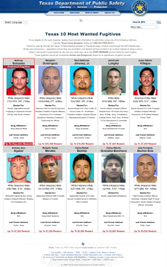 "Texas most wanted mestizo ""white"" hispanics"